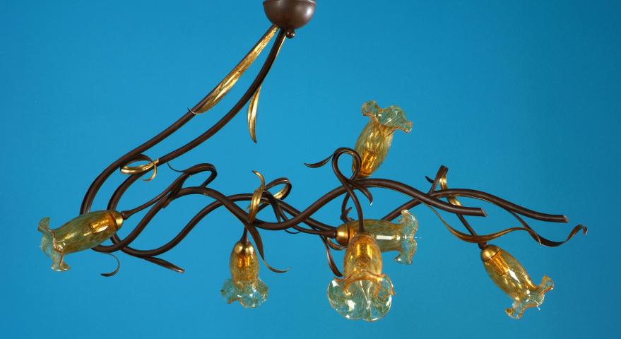 Plafoniera Fiori Vetro : Plafoniera florenz lamp